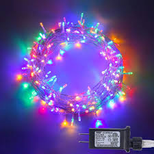 Amazon Com 100 Led Fairy String Lights With Safe Voltage Adaptor 8 Modes Multicolor Christmas Lights For Christmas Tree Party Children Bedroom Garden Indoor And Outdoor Decoration Home Improvement