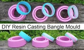 diy resin casting bangle mould how to
