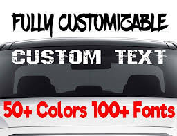 Custom Windshield Decals Word And Number Car Truck Window Custom Stickers Windshield Decal Custom Car Decal Company Name Decals Personalized Car Decals Stickers Custom Window Decals Custom Car Decals