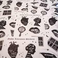 Gothic Literature Vinyl Sticker Sheet Literary Emporium
