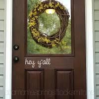 Hello Decal Front Door Decal Script Decal Front Door Welcome Decor B01gp0q8yu