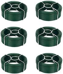 0 95mm X 50m X 6 Pieces Garden Wire Coil Pvc Coated Wire Fencing Stainless Galvanized Plant Wire Fence Accessories Winding Wire Wire Rolling Wire Mesh Sheath Green Garden Twine