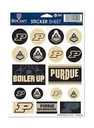 Purdue Vinyl Sticker Sheet Purdue Team Store