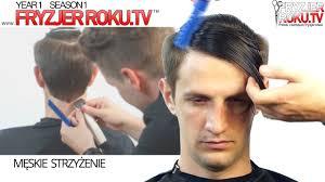 Klasyczna Meska Fryzura Z Przedzialkiem Classic Men S Haircut
