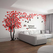 Wall Decals For Home Tree Letter Acrylic Decorative Self Adhesive Best