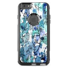Blue Ink Floral Otterbox Commuter Iphone 6s Plus Case Skin Istyles