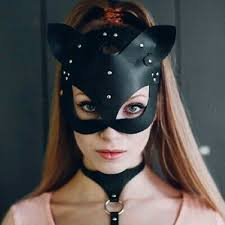 leather cat mask y face mask