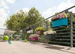 Railing Planters Bring Color To Small Outdoor Living Spaces
