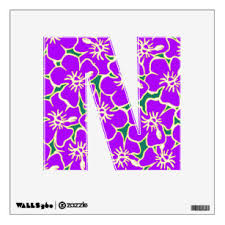 Letter N Wall Decals Stickers Zazzle
