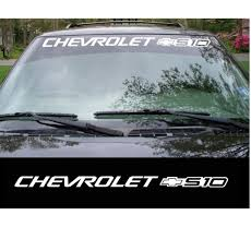 Chevy Chevrolet S 10 S10 Windshield Banner Decal Sticker Custom Sticker Shop