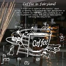 Vinyl Wall Decal Creative Coffee Cup Milk Tea Window Glass Sticker Coffee Shop Decoration Removeable Decorative Decor Coffee Shop Decor Coffee Shop Cafe Window