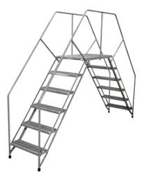 Cotterman Portable Crossover Ladders Grip Strut Treads