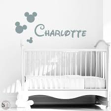Mickey Mouse Style Personalized Custom Baby Name Graphicsmesh