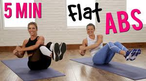 5 minute flat abs workout w popsugar