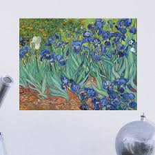 Artverse Van Gogh S Irises Removable Art Wall Decal Wayfair