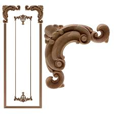 Vzlx Floral Wood Carved Corner Applique Wooden Carving Decal Furniture Cabinet Door Frame Wall Home Decoration Accessories Figurines Miniatures Aliexpress