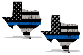 Blue Lives Matter Subdued American Flag Vinyl Police Sticker Car Decal 2 Pk