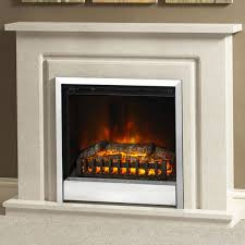 marble electric fireplace suite