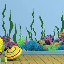 Coral Seaweed Ocean Wall Decals Undersea Wall Decor Stickers For Kids Room 798167993661 Ebay
