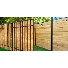 Slipfence 3 In X 3 In X 8 Ft Black Powder Coated Aluminum Fence Post Includes Post Cap Sf2 Pk308 Th In 2020 Aluminum Fence Fence Design Small Backyard Landscaping