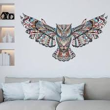 Colorful Owl Wall Decal For Kids Room Decor Removable Pvc Vinyl Self A Nordicwallart Com