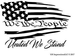 Amazon Com Mblk We The People United We Stand Tattered American Flag Decal Vinyl Sticker Ur Impres American Flag Decal Vinyls American Flag Decal Flag Decal
