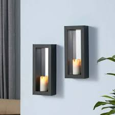 sconces 2 pillar candle holders