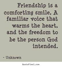 quotes about friendship friendship is a comforting smile a
