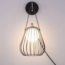 globe wall light with switch black wire