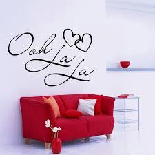 34 Off Dsu Ooh La La Paris France Hearts Love Vinyl Wall Stickers Quotes Bedroom Decorations Home Decor Decal Art Rosegal