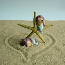 kawaii mini mermaid animals home decor