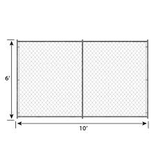 6ft H X 10ft W Chain Link Kennel Panel Pet Kennels Crates Playpens Pet Sentinel Products