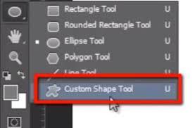 Image result for custom shape tool photoshop