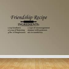 Friendship Recipe Quote Vinyl Decals Kitchen Decal Gift For Friend Pc126 Walmart Com Walmart Com