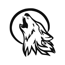 Howling Wolf Vinyl Decal For Trucks Cars Laptops With Moon Etsy