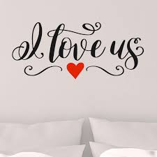 Amazon Com I Love Us Vinyl Wall Decal Sticker Removable Black With Red Hearts Handmade