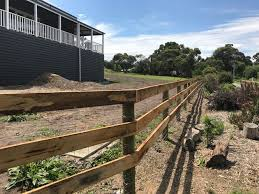 Post And Rail Fencing Rural Farm Fencing
