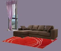 carpets blend with dark brown furniture