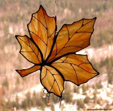 maple leaf stained glass pattern