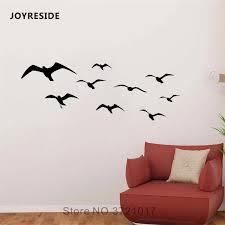 Joyreside Seagull Wall Flying Bird Sticker Ocean Decals Vinyl Dorm Kids Girls Room Living Room Interior Bedroom Home Mural A1334 Wall Stickers Aliexpress