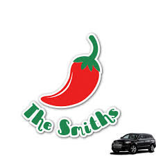 Chili Peppers Graphic Car Decal Personalized Youcustomizeit