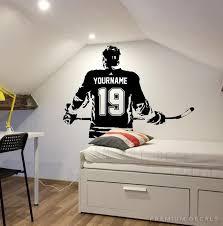 Hockey Wall Art Custom Name Hockey Decal Right Handed Etsy In 2020 Hockey Decals Hockey Wall Art Custom Wall Art