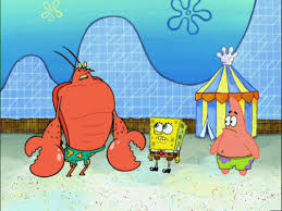 Larry the lobster and Spongebob and Patrick