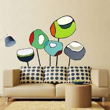 Poppies Cool Floral Wall Decals Greenbox