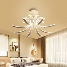acrylic curved semi flush light modern