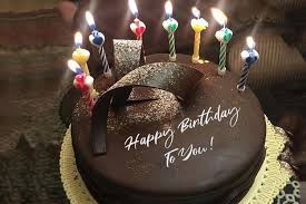 name on chocolate happy birthday cake