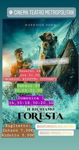 www.metropolitanpiombino.it IL RICHIAMO DELLA FORESTA Proiezioni ...