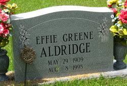 Effie Lois Greene Aldridge (1909-1998) - Find A Grave Memorial
