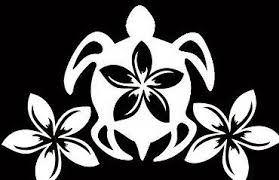 Honu Plumeria Decal Turtle Tattoo Designs Plumeria Tattoo Aztec Tribal Tattoos