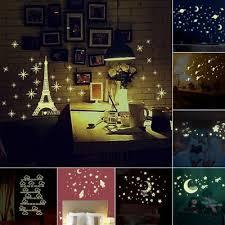 Kids Ceiling Wall Stickers Bedroom Glow In The Dark Stars Moon Decoration Diy Ebay